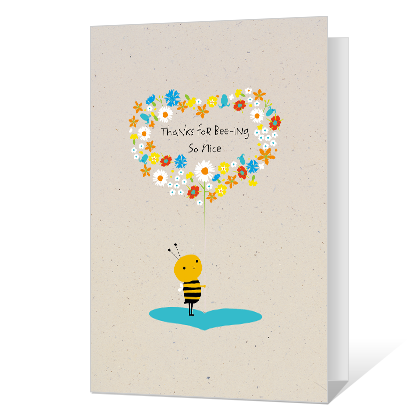 Bee-ing Grateful Thank You Cards