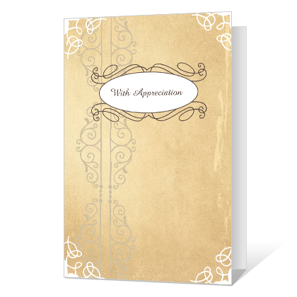 With Appreciation Thank You Cards
