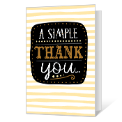 A Simple Thank You Thank You Cards