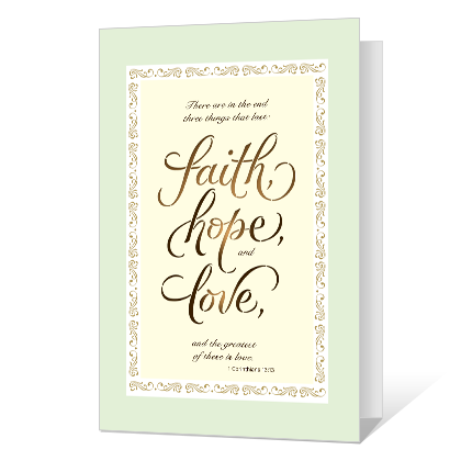 Faith, Hope, Love Sympathy Cards