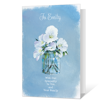 You're In Our Thoughts Sympathy Cards