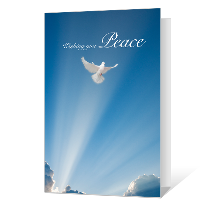 Wish for Peace Sympathy Cards