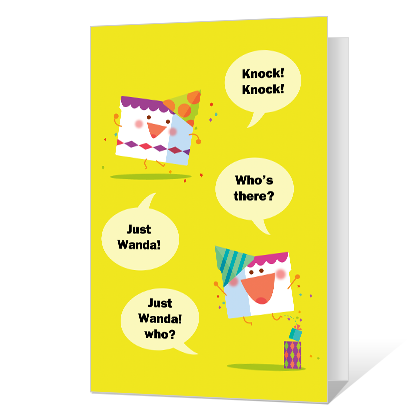 Birthday Knock-Knock Birthday Cards