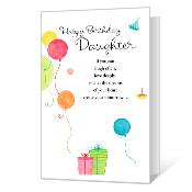 Celebrating Daughter Birthday Cards