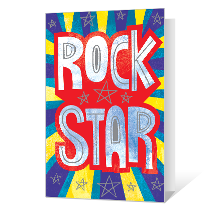 Rock Star Birthday Cards