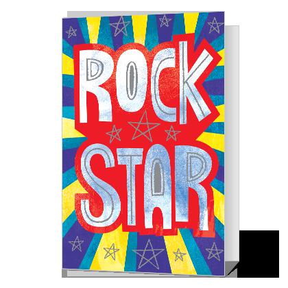 Rock Star Birthday Cards