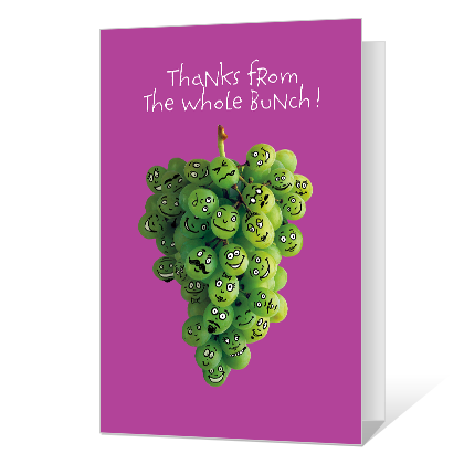 Thanks from the Bunch Thank You Cards