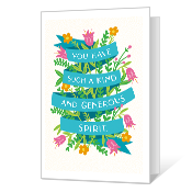 Your Generous Spirit Thank You Cards