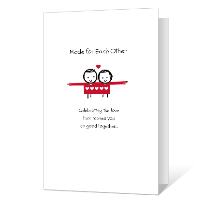 Made for Each Other Anniversary Cards