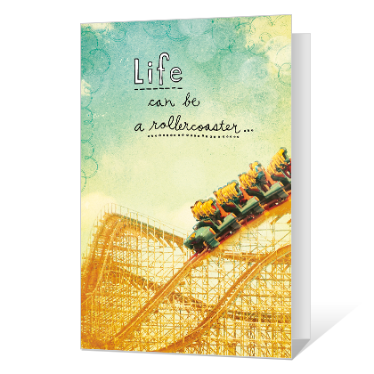 Life's a Rollercoaster Thinking of You Cards
