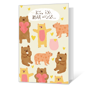 Big Bear Hugs Thinking of You Cards