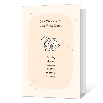 Blessed With Each Other Wedding Cards