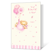 New Baby Girl Baby Cards