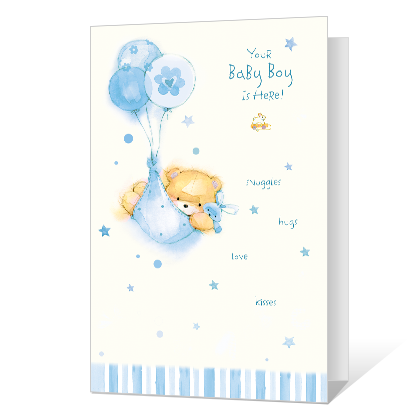 New Baby Boy Baby Cards