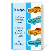 Just for Grandpa Father's Day Cards