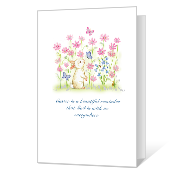 He Is With Us greeting card