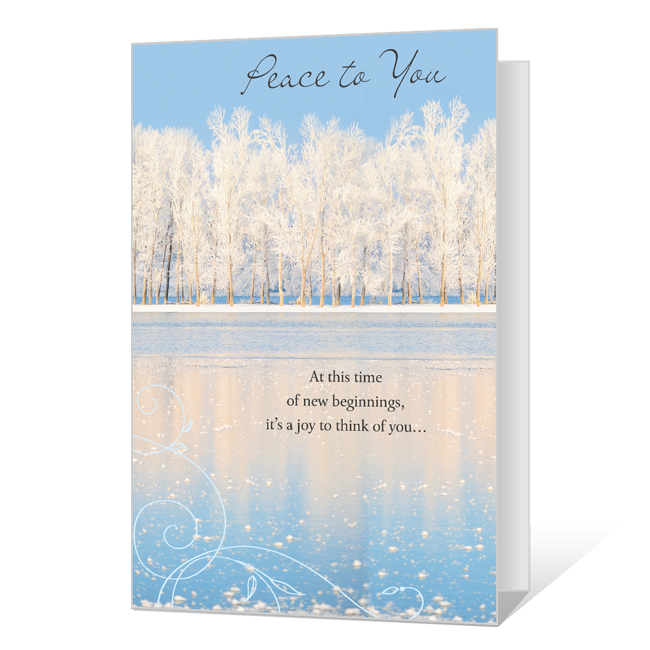 Peace to You Printable New Year's Day Cards