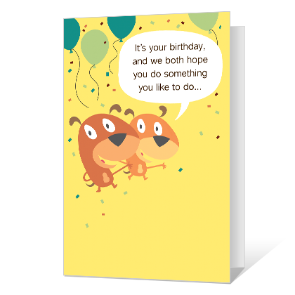 Doing Nothin' Printable Birthday Cards