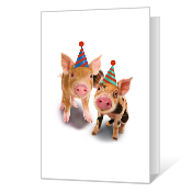 Wishes from Both Printable Birthday Cards