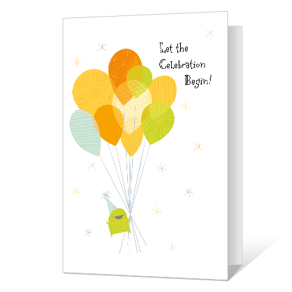 Let the Celebration Begin Printable Birthday Cards