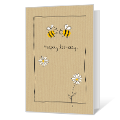 Bee Happy Printable Birthday Cards