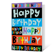 Happy Days Printable Birthday Cards