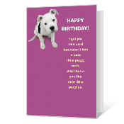 Cute Little Puppy Printable Birthday Cards