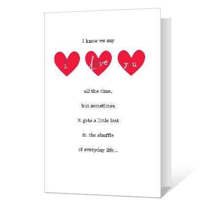 image about I Love You Printable Cards identified as Printable Playing cards Blue Mountain