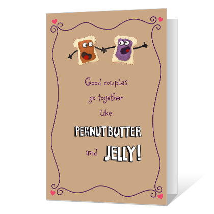 Peanut Butter and Jelly Printable Anniversary Cards