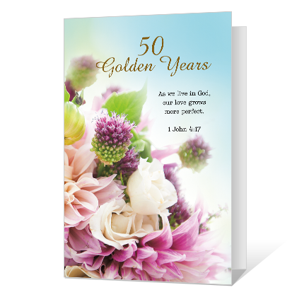 50 Golden Years Printable Anniversary Cards
