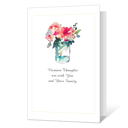Warmest Thoughts Printable Sympathy Cards