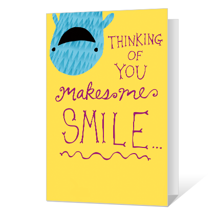 You Make Me Smile Printable Thinking of You Cards