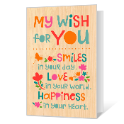 Wish for Today Printable Thinking of You Cards