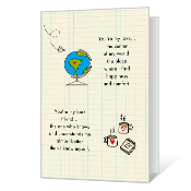 Center of My World Printable Dating & Love Cards