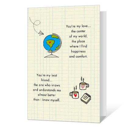 Center of My World Dating & Love Cards