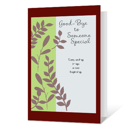 Best of Luck Printable Good Bye Cards