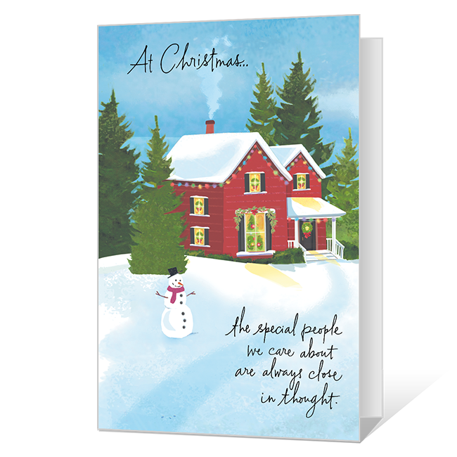 Close in Thought Printable Christmas Cards