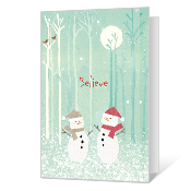 Believe in Christmas Printable Christmas Cards