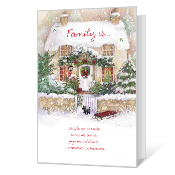 Christmas Is Family Printable Christmas Cards