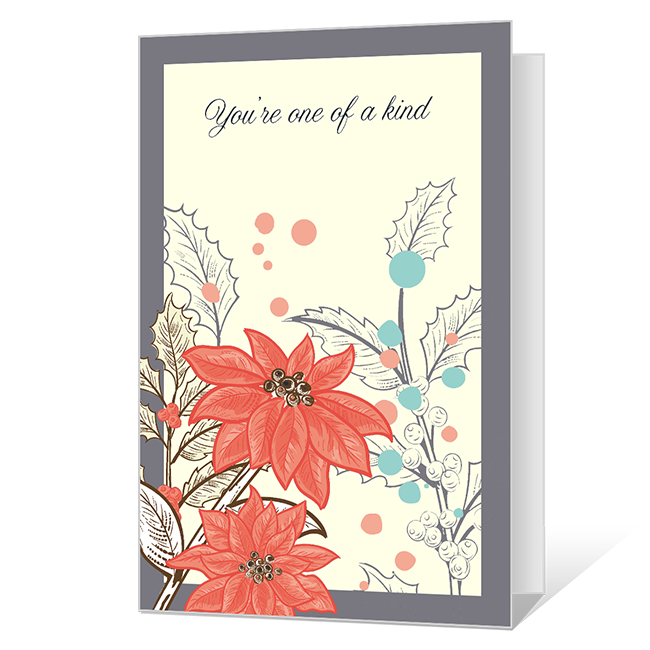 You're One of A Kind Printable Christmas Cards