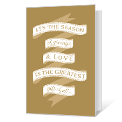 Season of Giving Printable Season's Greetings Cards