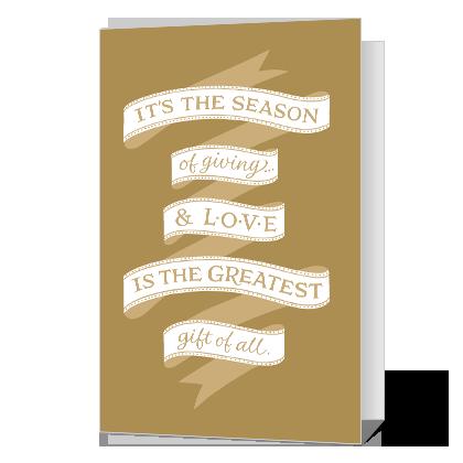 Season of Giving Printable Season's Greetings Cards