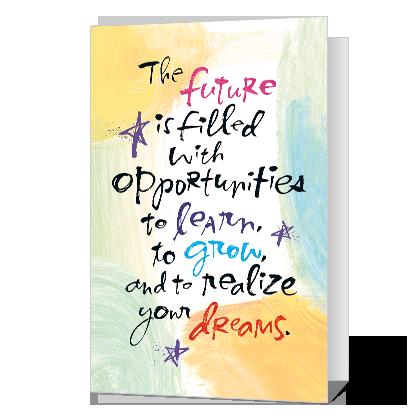 Future Dreams Printable Graduation Cards