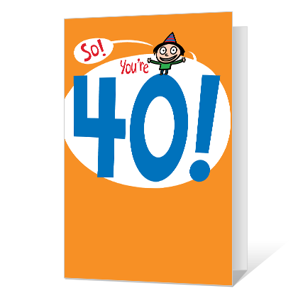 40th Birthday Printable 40th Birthday Cards