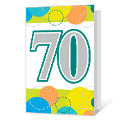 70th Birthday Printable Milestone Birthday Cards