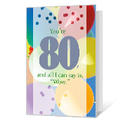 80th Birthday Printable Milestone Birthday Cards