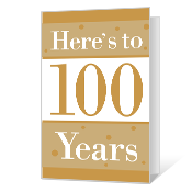 100th Birthday Printable Milestone Birthday Cards