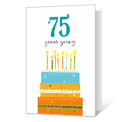 75th Birthday Printable Milestone Birthday Cards
