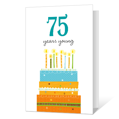 75th Birthday Printable Milestone Cards