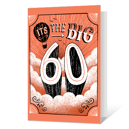 60th Birthday Printable 60th Birthday Cards